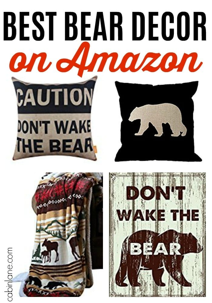 Bear decor looks great in a cabin. It can be rustic, cozy, sophisticated or cute, depending on what you're going for. Here's the best log cabin bear decor on Amazon.