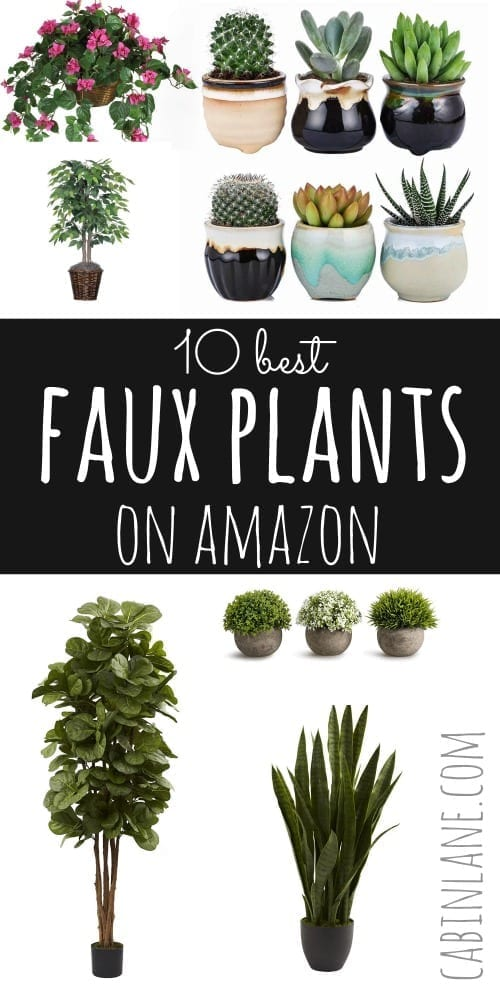 Have a black thumb? If so, you're in luck- fake plants look pretty darn realisitic these days! Here are the ten best faux plants on Amazon. #fauxplants #fakeplants #houseplants #Amazon #homedecor