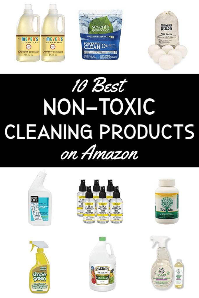 Clean up your cleaners. Here are the 10 Best non-toxic cleaning products, all available on Amazon.