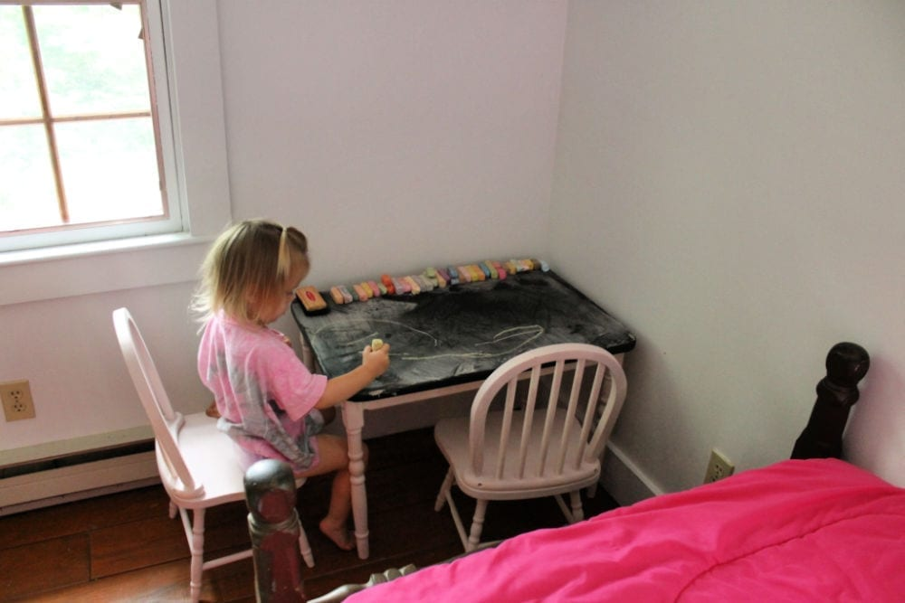 Kids chalkboard top table