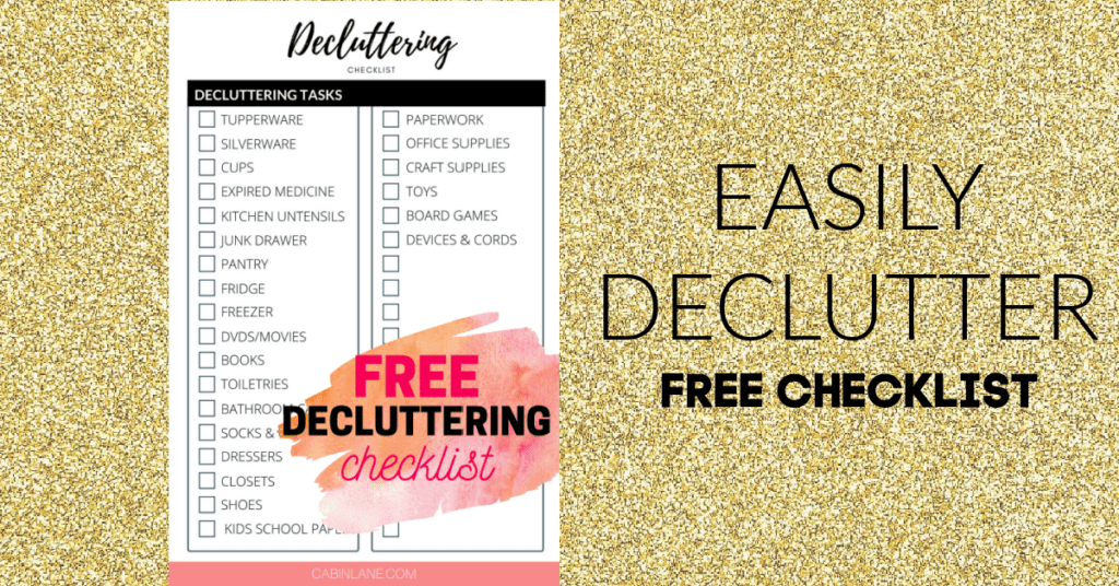 Are you ready to deal with your clutter? This free decluttering checklist will help you stay organized as you work through your home.