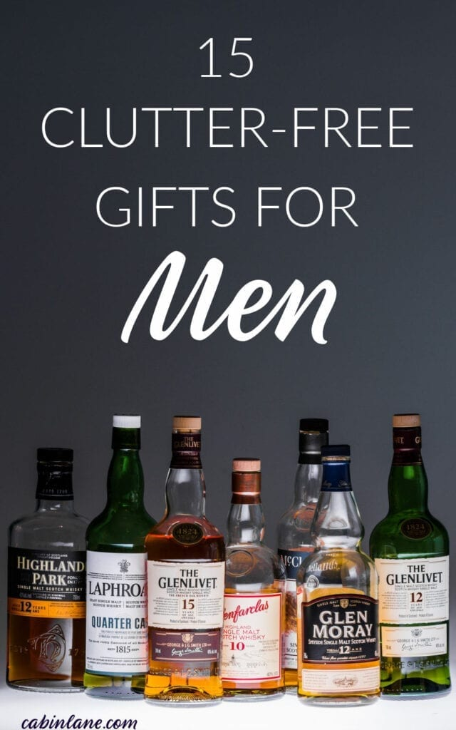Clutter free gifts for men. Great ideas for the hard to buy man.