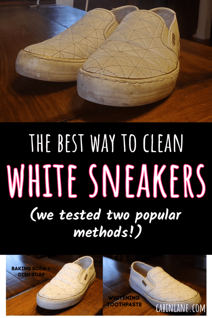White sneakers looking a little dirty? We tested two popular ways to clean white sneakers and white Crocs. Come see the winner!