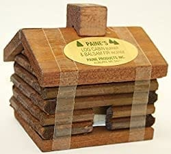 Paine's small log cabin incense burner.