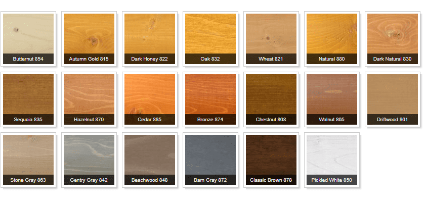 Log Cabin Stain Colors