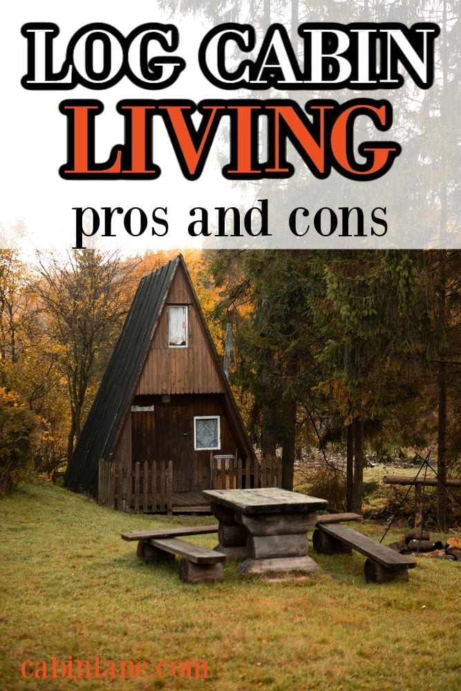 Wonder what log cabin living is like? Here's what it's like to live in a cabin in the woods plus a list of general pros and cons.