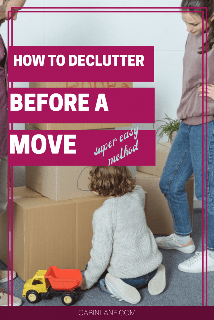 Getting ready to pack up? Don't let clutter follow you. Here's how to declutter before a move. A no nonsense plan that is easy to implement!