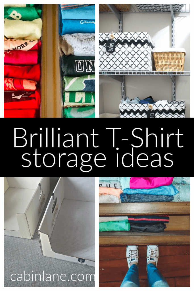 Are you ready to redo your closet? If  you're looking for t-shirt storage ideas we've got the answers plus examples of best way to store t-shirts.