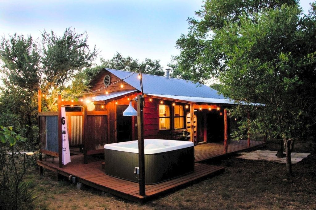 texas cabin in the woods to rent