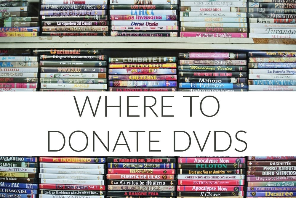 Doing a big decluttering sesh? Before you go tossing things into the trash, consider donating. Here's where to donate DVDs.