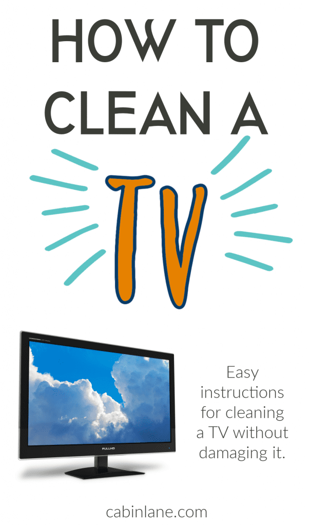 Has your TV seen better days? Are smudges on the screen interrupting your watching time? If so, here's how to clean a tv. It's super easy to do.