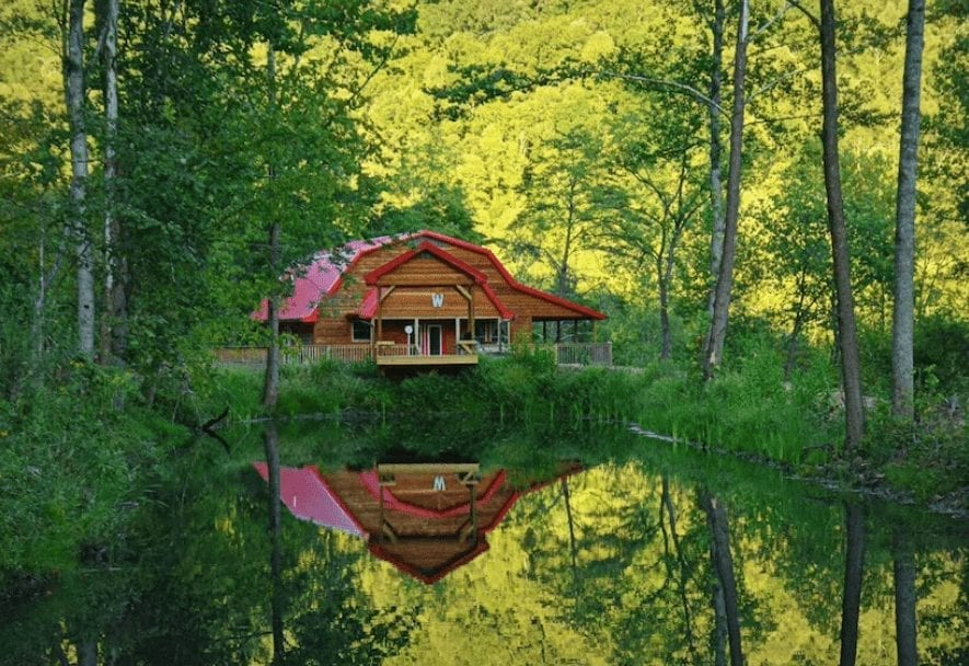 cabin in the woods in KY