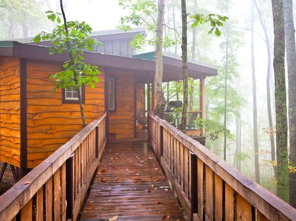 treehouse cabin in the woods