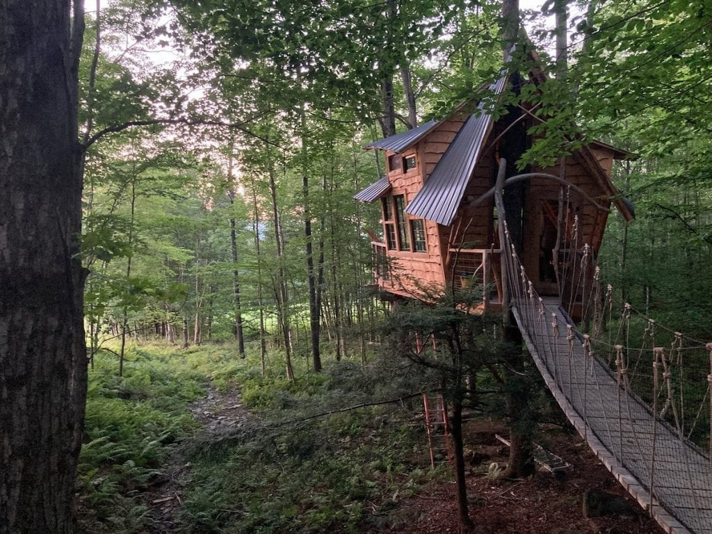 whimiscal cabin in the woods