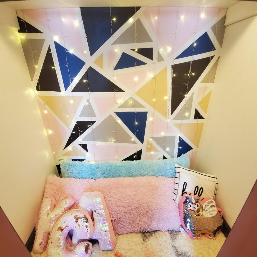 Create a hangout closet in your playroom for the older kids.