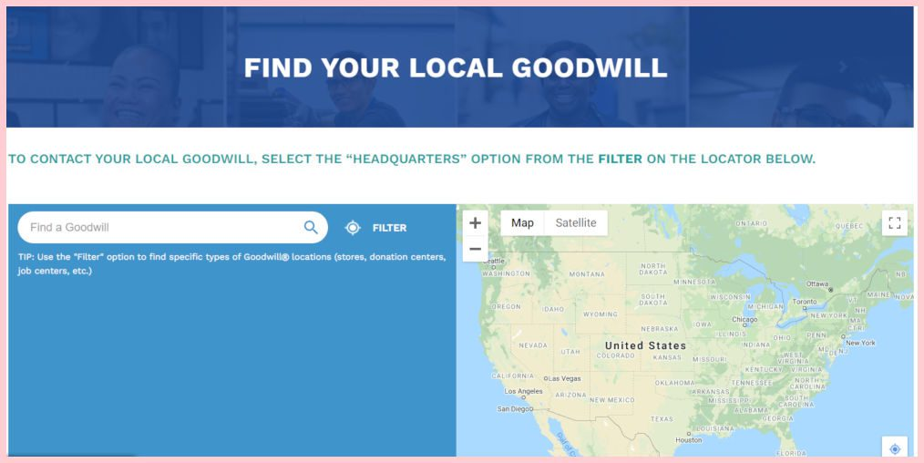 Donate women's business clothing to Goodwill.